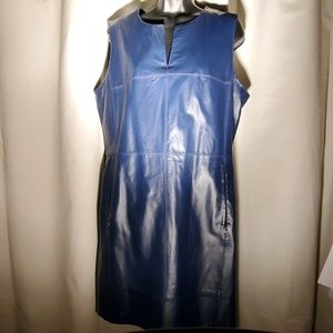 Size 16 Navy blue leather dress.
